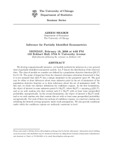 Inference for Partially Identified Econometrics