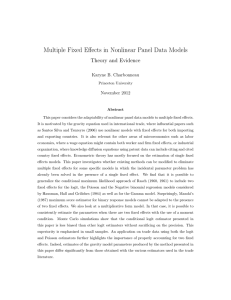 Multiple Fixed Effects in Nonlinear Panel Data Models - Theory and Evidence