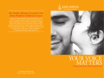 YOUR VOICE MATTERS: Coping with your child's hospital stay