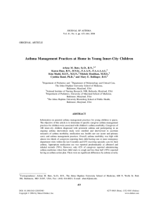 Butz AM, Huss K, Mudd K, Donithan M, Rand C, Bollinger ME. Asthma management practices at home in young inner-city children. J Asthma. 2004;41(4): p.433-44.