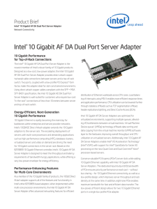 Intel®10 Gigabit AF DA Dual Port Server Adapter