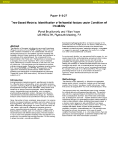 Tree-based Models: Identification of Influential Factors under Condition of Instability