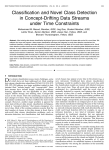 Classification and Novel Class Detection in Concept-Drifting Data Streams under Time Constraints