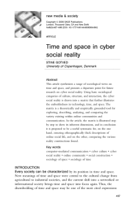 Time and space in cyber social reality