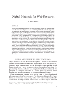 Digital Methods for Web Research
