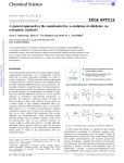 69. A general approach to the enantioselective -oxidation of aldehydes via synergistic catalysis