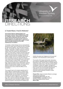 Is treated waste a treat for wetlands (PDF File 95.2 KB)