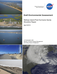 National Aeronautics and Space Administration, April 2013. Draft Environmental Assessment: Wallups Island Post-Hurricane Sandy Shoreline Repair . Wallups Island, Virginia: Goddard Space Flight Center, Wallups Flight Facility, 84p.
