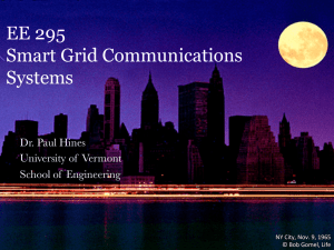 Slides for Smart Grid and Communication systems