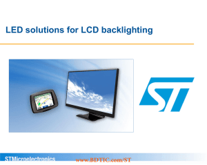 LED solutions for LCD backlighting