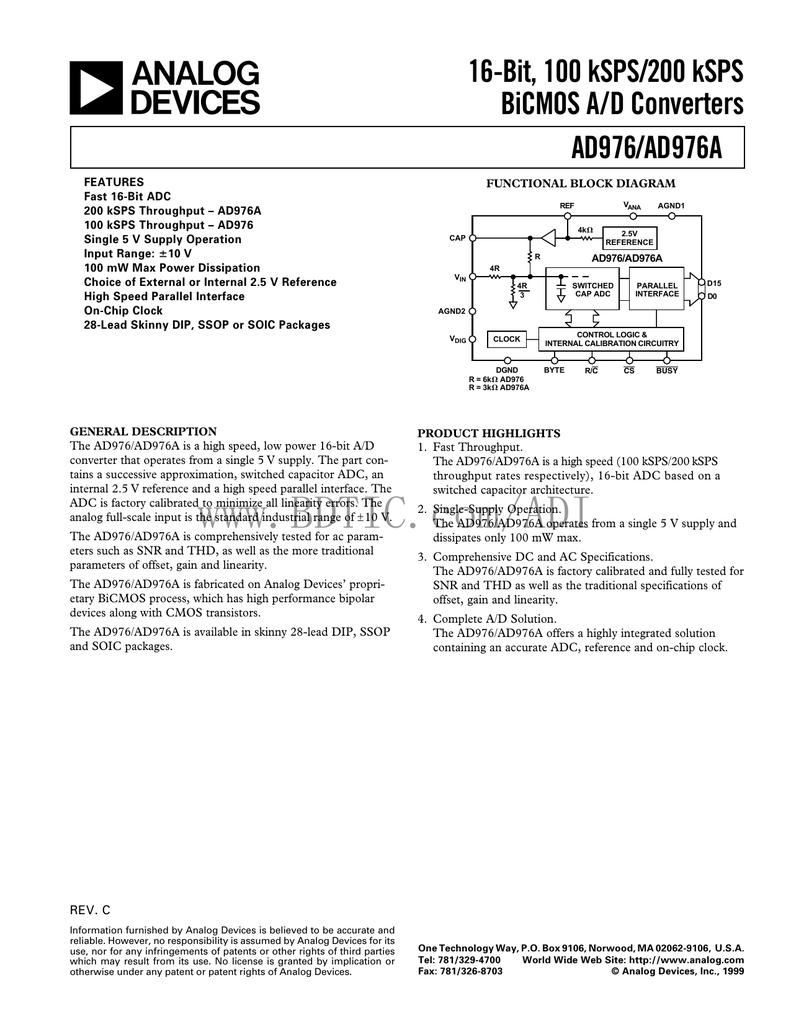 16 bit 5.25 V Analog to Digital Converter 4.75 V SSOP 100 kSPS Single