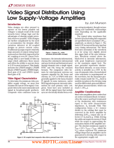 Dec 2003 Video Signal Distribution Using Low Supply-Voltage Amplifiers