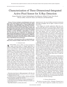 """Characterization of 3D-integrated Active Pixel Sensor for X-ray Detection."""