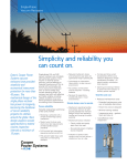 Single-Phase Vacuum Reclosers, Simplicity and Reliability You Can Count On