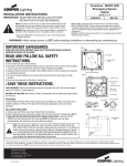 Installation Instruction Sheet for Crosstour MAXX LED (Emergency Egress Option)