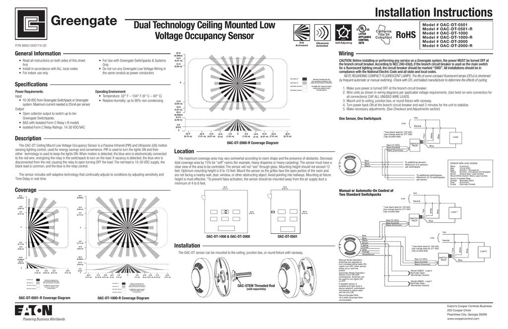 Ceiling Mounted Vacancy Sensor Wiring Diagram | Taraba ...