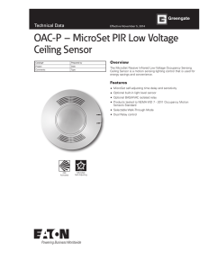 MicroSet PIR Low Voltage Ceiling Sensor Spec Sheet