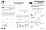 MicroSet Ultrasonic Low Voltage Ceiling Sensor Installation Instructions - English