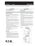 SEL LED Remote (SRP/SRM) instruction sheet - 049-261