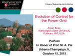 The Evolution of Control for the Power Grid