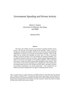 """Does Government Spending Stimulate Private Activity?"""