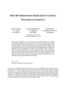 How Do Firms Form Their Expectations?