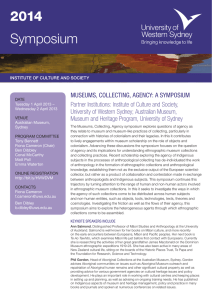 Museum, Collecting, Agency Flyer