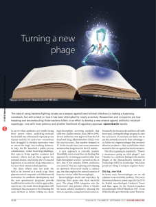 Nature Medicine  News Feature on Turning a new phage