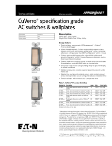 CuVerro Specification Sheet