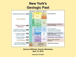 Science Affiliates Workshop NY Geology Powerpoint