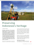Preserving Indonesia's heritage