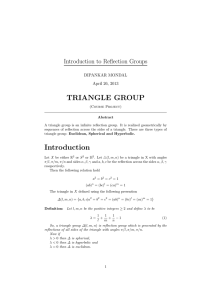 An introduction to triangle groups