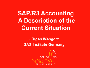 SAP AG System R/3 accounting - a description of the current situation