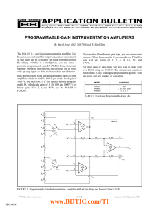 Programmable-Gain Instrumentation Amplifiers