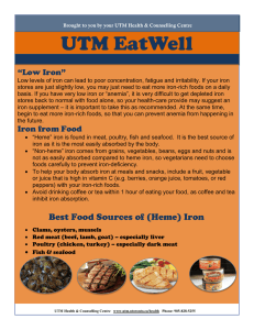 "UTM EatWell ""Low Iron"""