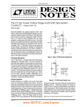 DN126 - The LT1166: Power Output Stage Automatic Bias System Control IC