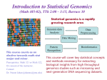 Introduction to Statistical Genomics