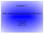 Lecture 7 Stars and Galaxies and Nebula, (Oh My!) Feb 18 2003