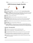  RCMS Orchestra Supply Checklist  Required