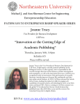 "Joanne Tracy ""Innovation at the Cutting Edge of Academic Publishing"""