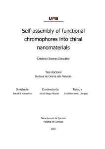 Self-assembly of functional chromophores into chiral nanomaterials