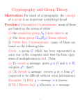 Cryptography and Group Theory