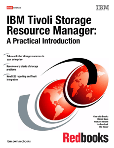 IBM Tivoli Storage Resource Manager: A Practical Introduction Front cover