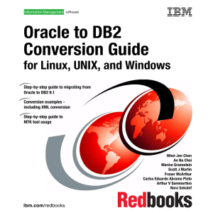 Oracle to DB2 Conversion Guide for Linux, UNIX, and Windows Front cover