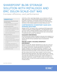 SHAREPOINT BLOB STORAGE SOLUTION WITH METALOGIX AND EMC ISILON SCALE-OUT NAS
