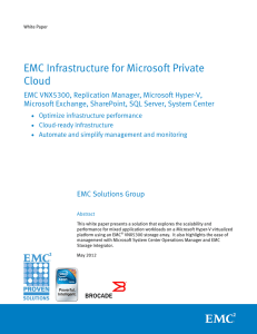 EMC Infrastructure for Microsoft Private Cloud