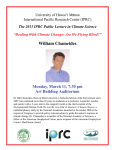 The 2013 IPRC Public Lecture in Climate Science