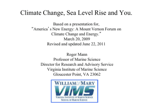Climate Change, Sea Level Rise and You
