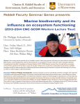 Marine biodiversity and its influence on ecosystem functioning Dr. Philippe Archambault,