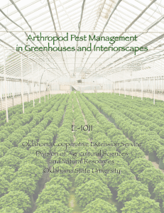 Arthropod Pest Management in Greenhouses and Interiorscapes E-1011